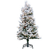 As Is Hallmark 5 Snowdrift Spruce Tree w/ Quick Set - H214103
