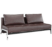 Serta Serafina Brown Bonded Leather ConvertibleLounger - H280603