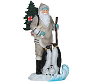 Limited Edition Santa with Penguins Figurine byPipka - H286803