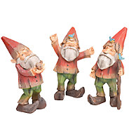 Plow & Hearth Set of 3 Gnomes - H287003
