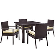 Palm Harbor Outdoor Wicker 5-Piece Dining Set - H288603