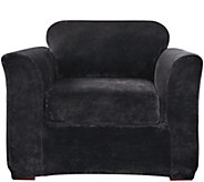 Sure Fit Stretch Plush 2-Piece Chair Slipcover - H289803