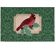 Waverly 21 x 33 Christmas Cardinal Rug by Nourison - H293103