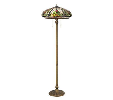 Tiffany style 60quot barroco floor lamp qvccom for Tiffany floor lamp qvc