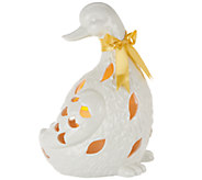 Ceramic Animal with Flameless Candle and Bow by Home Reflections - H202504