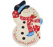 Temp-tations Figural Snowman Platter - H202804