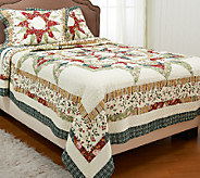 Wonderful Star FL/QN 100Cotton Quilt Set with Shams - H205904