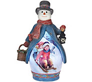 As Is Illuminated Figure with Vintage Holiday Scene - H207504