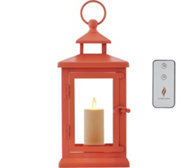 "Luminara 11"" Hudson Lantern with Votive Candle and Remote"