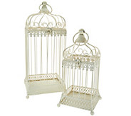 Set of 2 Nested Metal Birdcages by Valerie - H210504
