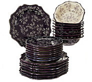 Temp-tations Floral Lace 24-piece Dinnerware Service for 8 - H210904