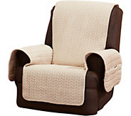 Sure Fit Quilted Cable Reverse to Sherpa Recliner Furniture Cover - H213204