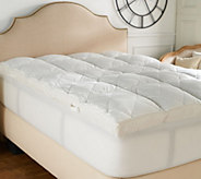 Casa Zeta-Jones 400TC Cotton Jacquard Twin Ultra Feather Bed w/ Handles - H213504
