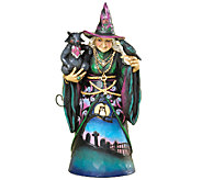 Jim Shore Heartwood Creek Witch with Cat and Crow Figurine - H285304