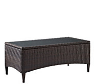 Kiawah Outdoor Wicker Glass Top Table - H289504