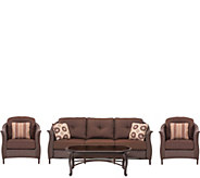 Cambridge Coral Bay 4-Piece Wicker Patio Seating Set in Brown - H291204