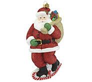 Reed & Barton Skating Santa Ornament - H295104