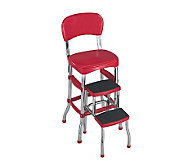 Cosco Red Retro Counter Chair / Step Stool - H356704