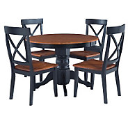 Home Styles 5-Piece Pedestal Black Dining Set - H176405