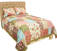 Garden Stroll 100Cotton TW Pieced Quilt Set with Sham - H202005
