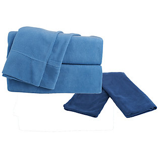 Malden Mills Polar Fleece Queen Solid Sheet Set