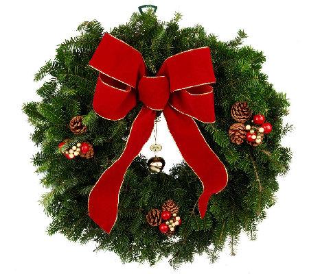 Del Week 11 30 Fresh Balsam Jingle Bell Wreath By Valerie
