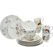 Lenox Butterfly Meadow Porcelain Flutter 16-pc Dinnerware Set - H209005