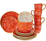 As Is Temp-tations Floral Lace 16 pc. Dinnerware Set - H210605