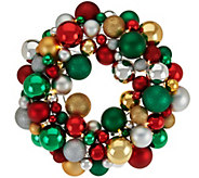 16 Illuminated Ornament Wreath by Valerie - H210805