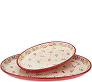 Valerie Bertinelli 2-Piece Hand-Painted Platter Set - H214405