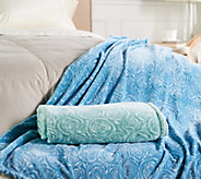 As Is Casa Zeta-Jones S/2 50X 70 Signature Rose Throws - H215405