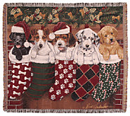 Christmas Puppies Throw by Simply Home - H282605