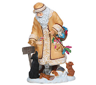 Limited Edition Santa with Cats and Dogs Figurine by Pipka