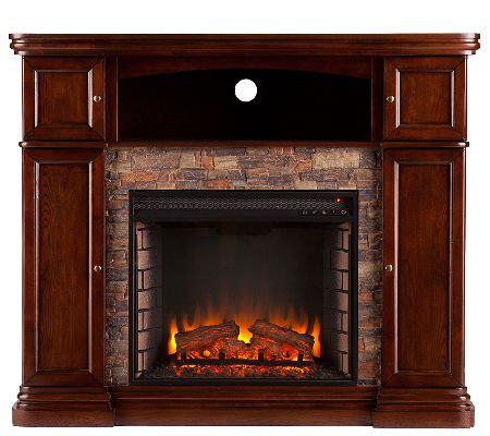 Nora Electric Media Fireplace — QVC