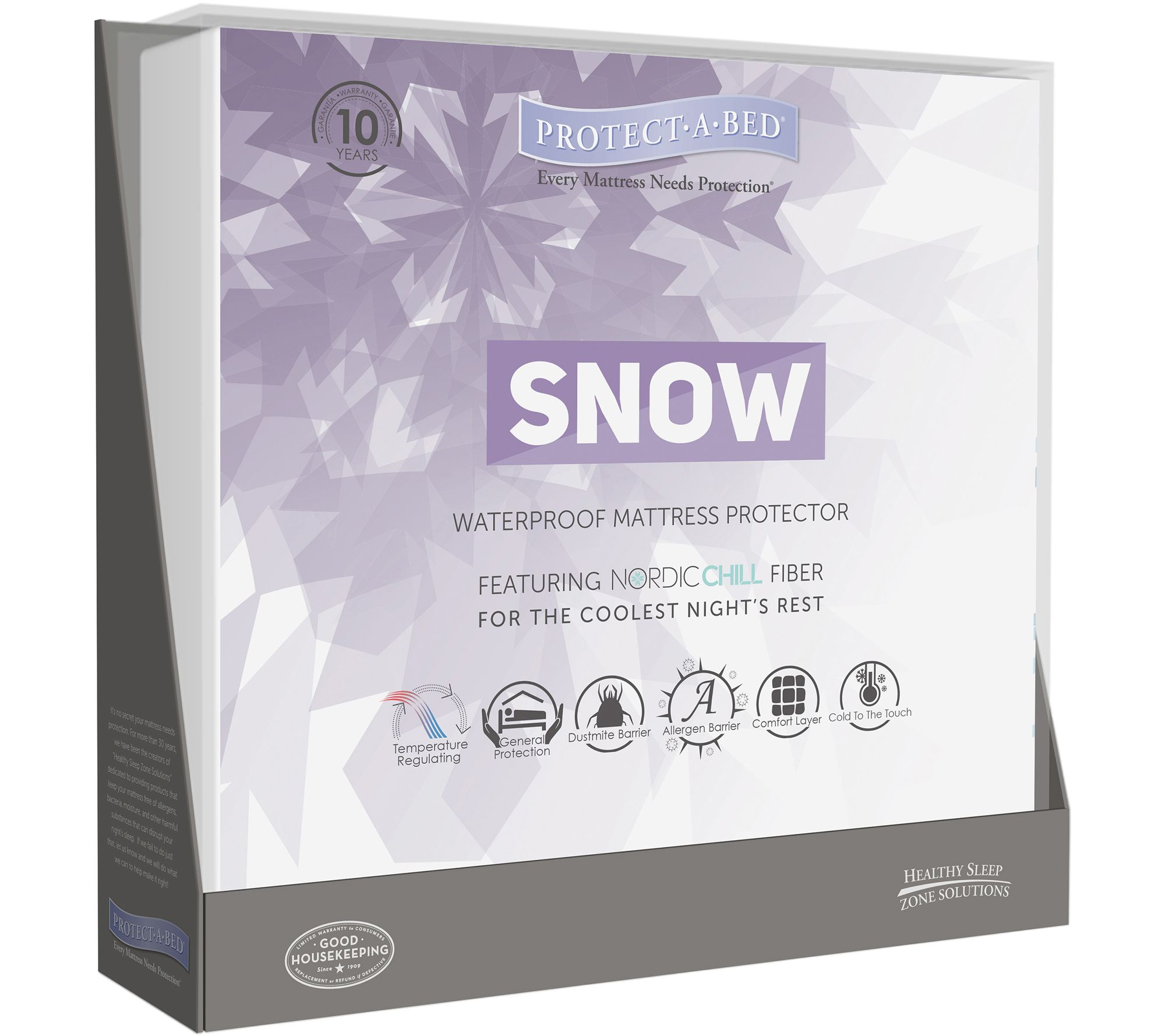 Protect-A-Bed Therm-A-Sleep Snow Full MattressProtector - H289405