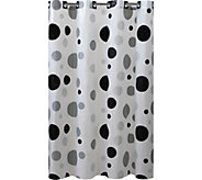 Hookless Printed Shower Curtain - Retro Dots - H293705