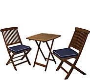 Outdoor Interiors 3-Piece Eucalyptus Bistro Set - H294205