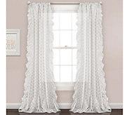 Ruffle Polka Dots Window Curtain Set by Lush Decor - H296005