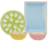 4-piece Swiss Dot Entertaining Set by Valerie - H205006