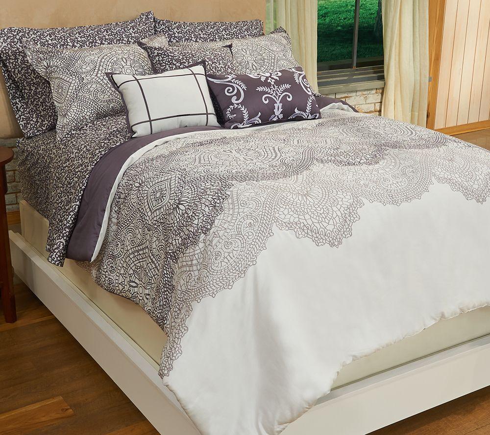 Home Reflections Alana 10-pc Cotton Comforter Set - Page 1 — QVC.com