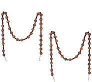 ED On Air Set of 2 Wood Bead Garlands by Ellen DeGeneres - H206406