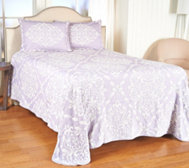 Westminster Jacquard Bedspread with Lattice Design