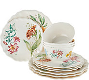 Lenox Butterfly Meadow Melamine 12-piece Dinnerware Set - H209006
