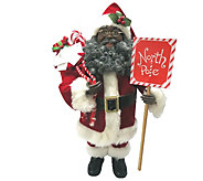 15-1/2 African American North Pole Santa by Santas Workshop - H289006
