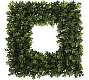 Pure Garden 16.5 Square Boxwood Wreath - H291706