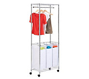 Honey-Can-Do Chrome Rolling Urban Laundry Center - H357006