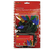 Battery Operated 35-Count C6 LED Light Set - Multicolor - H361506