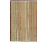 Serenity Stripe Natural Fiber Sisal 8 x 10 Rug with Border - H176507