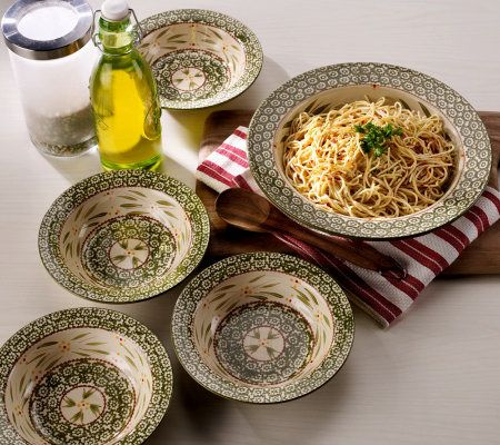 & Temp-tations Old World 5-piece Pasta Bowl Set - Page 1 \u2014 QVC.com
