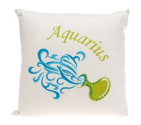 Qvc Decorative Pillows : Zodiac Sign 18